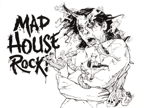 Alice Cooper's Mad House Rock - Tour Graphic Print