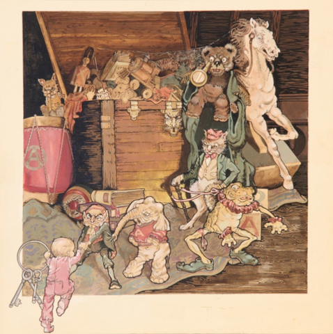 Aerosmith's Toys In The Attic - Album Cover Art