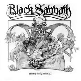 Black Sabbath Front Cover Sketch - Black and White