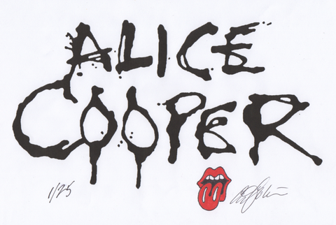 Alice Cooper Hand Drawn Logo Original