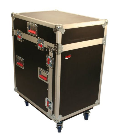 Gator Cases GTOURGRC12X12 12U Top  12U Side Audio Road Console Rack
