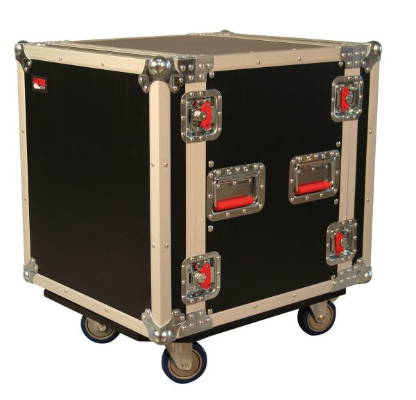 "Gator Cases GTOUR12UCA24D 12U  24"" Deep Audio Road Rack Case w/ Casters"