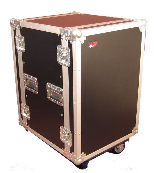 Gator Cases GTOUR14UCAST 14U  Standard Audio Road Rack Case w/ Casters