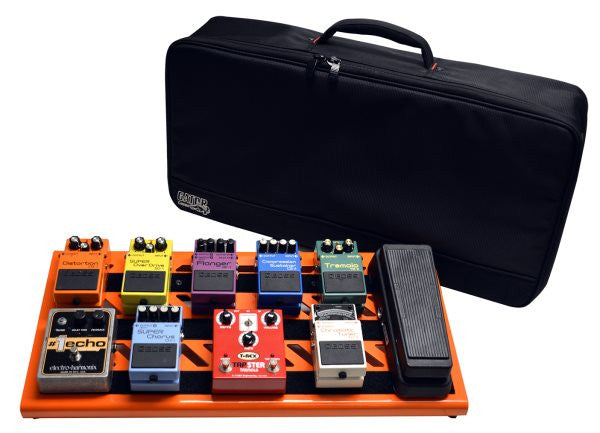 Gator Cases GPBBAKOR Orange Aluminum Pedal Board; Large w/ Carry Bag