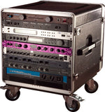 Gator Cases GRCBASE10 10U Rack Base w/ casters  for Console Audio Racks
