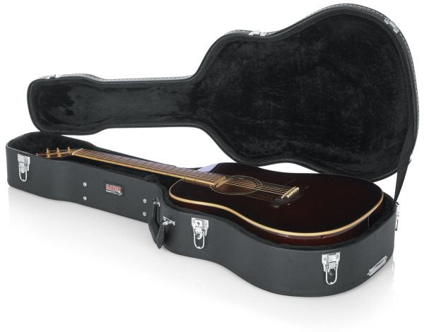 Gator Cases GWDREAD Dreadnought Guitar Deluxe Wood Case