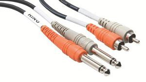 "Hosa CPR202 2 m Stereo Interconnect (Dual 1/4"" TS - Dual RCA)"