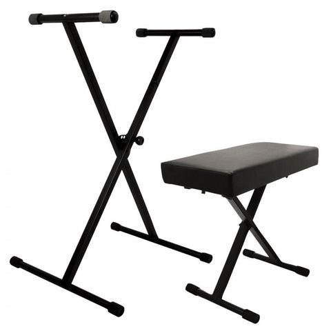 On Stage KPK6500 Keyboard Stand and Bench Pack - Image 1