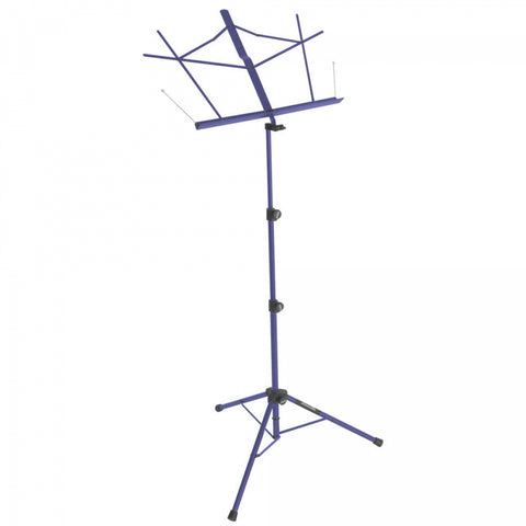 On Stage SM7222DBB Tripod Base Sheet Music Stand (Dark Blue, w/ Bag) - Image 1