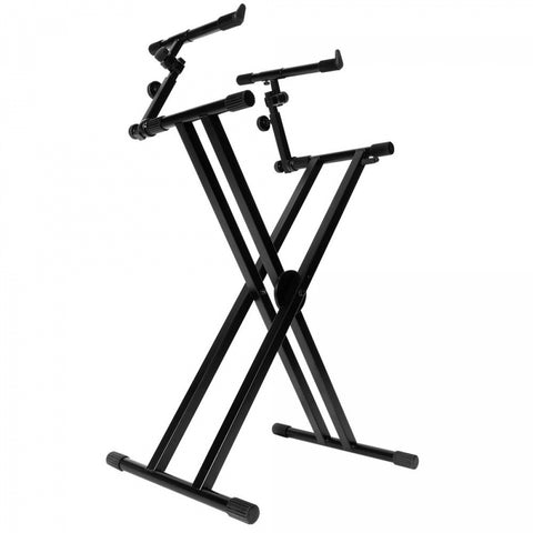 On Stage KS7292 Double-X Ergo Lok Keyboard Stand with 2nd Tier - Image 1