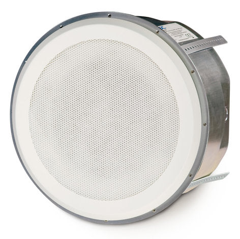 "8"" High-Power Coaxial Ceiling Speaker with 70/Image 100V Transformer and 90ø Conical Coverage - Image 1"