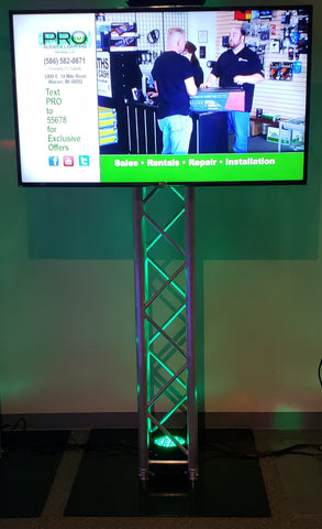 "55"" LCD TV with Truss Stand"