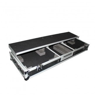"ProX DJ Coffin Case for 10"" or 12"" Mixer and 2x 1200 style Tuntables in Standard Mode with Wheels & Laptop Shelf - Image 1"