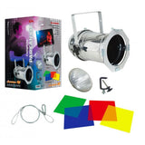 American DJ 64COMBO Kit includes: 1 x polished par 64 Can, 1 x 500W lamp, 4-pak color gelfilters, gel frame, clamp       - Image 1