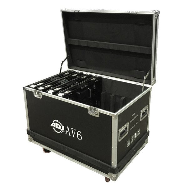 American Dj AV6FC 8pc. flight case for AV6