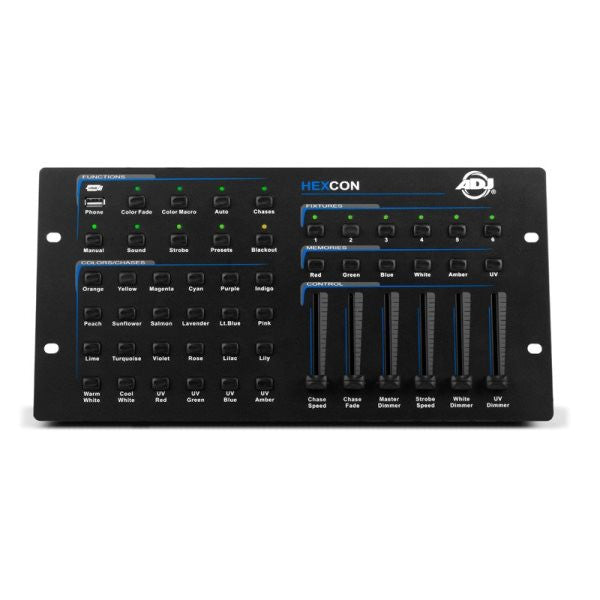 American Dj HEXCON 6 channel controller designed for HEX series fixtures