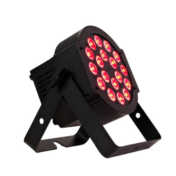 American Dj 18PHEX High powered flat par design with 6 in 1 Hex LEDs, 18 x 12 watt RGBAW