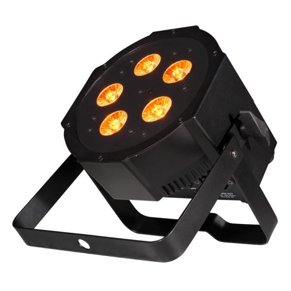 American Dj MEGAQAGO New Battery powered LED par56, Quad LED (Red,Green,Blue,Amber).Battery and AC