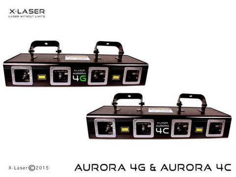 X-laser AURORA4C Quad Head, Full Color 450mW
