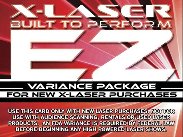 X-laser EZVARIANCEKIT Online Variance Application