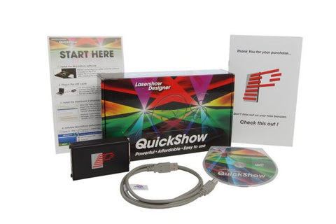 X-laser QUICKSHOWXL QSXL Software and DAC