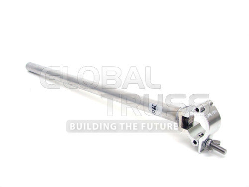 "Global Truss JRCLAMPPOST 18"" Aluminum Post w/Clamp - Max Load 220Lbs."