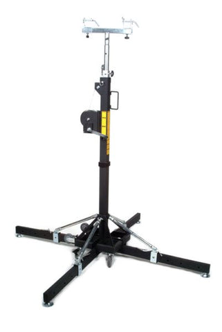 Global Truss ST157 15.7FT Medium Duty Crank Stand w/Outriggers - Max Load 330Lbs.