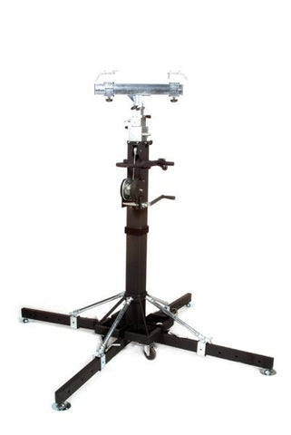 Global Truss ST180 18FT Heavy Duty Crank Stand w/Outriggers - Max Load 440Lbs.