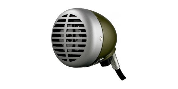 "Shure 520DX ""The Green Bullet,"" Omnidirectional Dynamic with Volume Control, High impedance, fo"