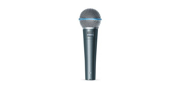 Shure BETA58A Supercardioid Dynamic with High Output Neodymium Cartridge, for Vocal,Microphone clip