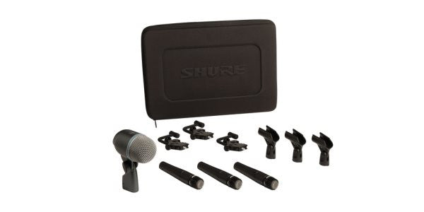 Shure DMK5752 Drum Microphone Kit, Three SM57, One BETA 52A, Three A56D Drum-Mounts, Carrying Case