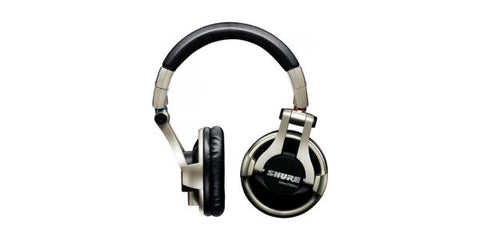 "Shure SRH750DJ Professional DJ Headphone, Detachable coiled cable, Threaded ¼"" gold plated adapter"