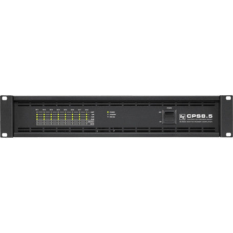 Electro Voice CPS85120V CPS8.5 8-Channel Power Amplifier, 8 x 500W into 2, or 4 Ohms, or 70V/100V D