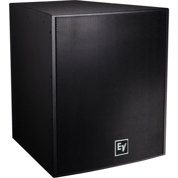 Electro Voice EVF2151DFGB DUAL 15IN, 1000 WATT SUBWOOFER SYSTEM, FIBERGLASS, BLACK, EXTERNAL CROSSO