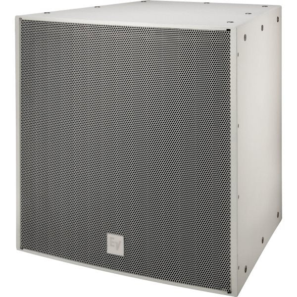 Electro Voice EVF2151DFGW DUAL 15IN, 1000 WATT SUBWOOFER SYSTEM, FIBERGLASS, WHITE, EXTERNAL CROSSO