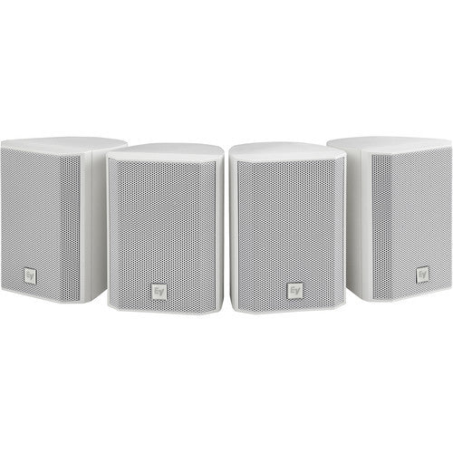 Electro Voice EVID21W Surface-Mount Satellite Speaker System - White(Priced and Sold In Pairs)