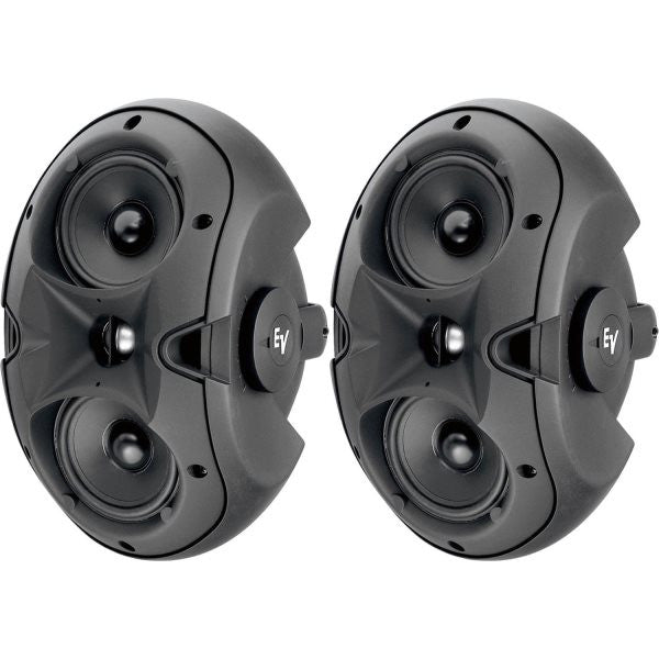 "Electro Voice EVID42T 2-Way Twin 4"" Woofer and 1"" Horn Loaded 100 X 90 Tweeter, Transformer. Black"