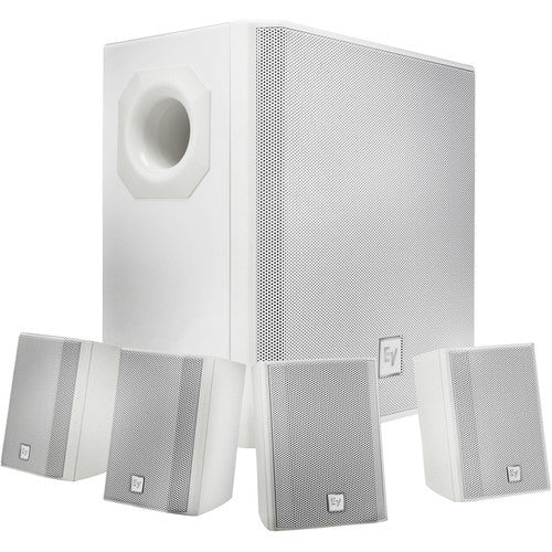 Electro Voice EVIDS44W Wall-Mount Background Music Speaker System Package - White