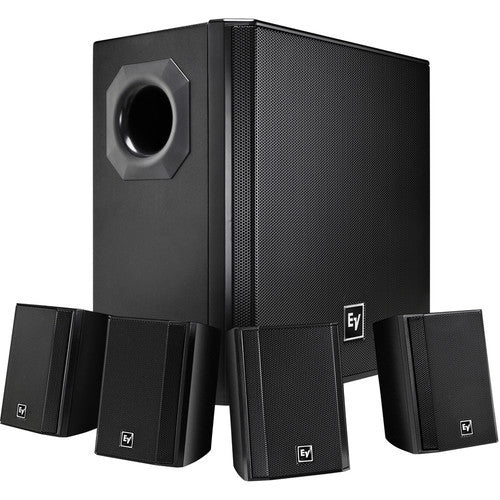 Electro Voice EVIDS44 Wall-Mount Background Music Speaker System Package - Black