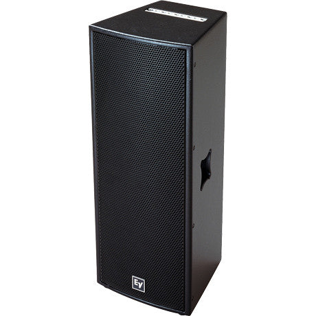 Electro Voice QRX21275BLK Dual 12-inch two-way, 75?ø x 50?ø asymmetrical HF with DH7, 600 watts, pa
