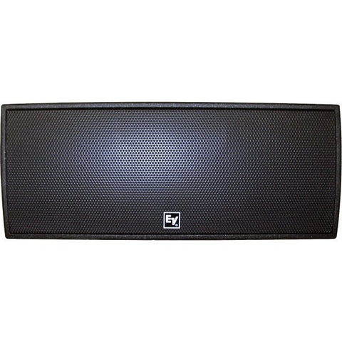 "Electro Voice QRX212H75BLK Dual 12"" 2-Way, 75?ø X 50?ø Asymmetrical Hf with Dh7, 600 Watts, Black"