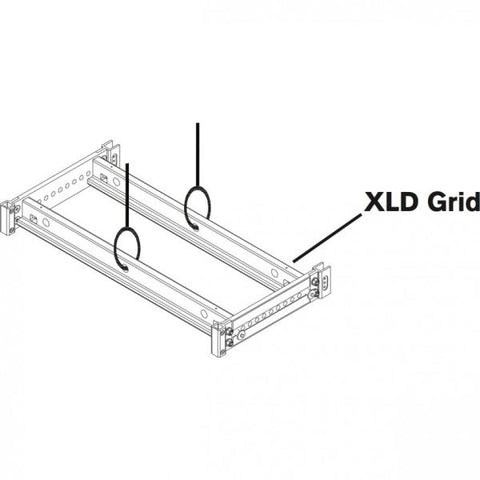 Electro Voice XLDGRIDCCA XLD GRID Clear Coat Anodized, FOR UP TO 16 XLD CABINETS, Clear coated for