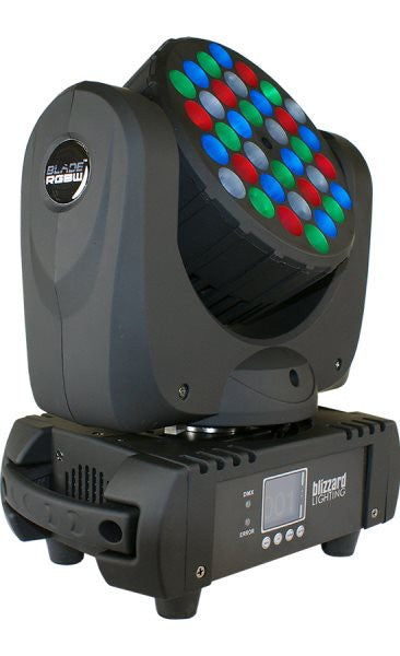 Blizzard Lighting BLADERGBW 36x 5w RGBW LED moving head wash. CREE LEDs, sound active,auto mode, mast
