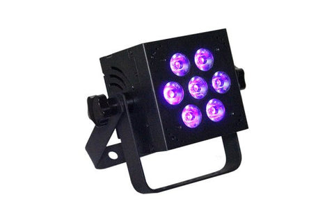 Blizzard Lighting HOTBOX5RGBVW 7x 15-watt (5 x 3W) RGBW+UV 5-in-1 LEDs,32-bit dimming, built-inprogra