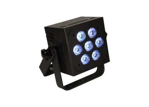 Blizzard Lighting HOTBOXEXAW 7x 15-watt (6 x 2.5W) RGBAW+UV 6-in-1 LEDs, 32-bit dimming, 4-button LED