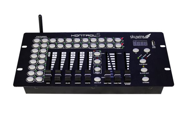 Blizzard Lighting KONTROL5SKYWIRE 10-channel, 5 fader DMX controller with built-in 2.4 GHz wirelessDM