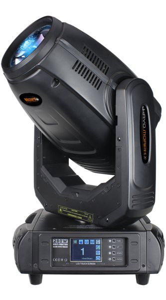 Blizzard Lighting KRYOMORPH Moving head fixture with 280W discharge lamp that provides 3-in-Beam/Spot