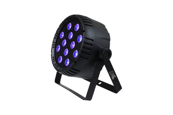 Blizzard Lighting LB PAR QUAD RGBW 12*10-watt 4-in-1 LEDs (RGBW), 25-degree beam angle,POWERCON compatib
