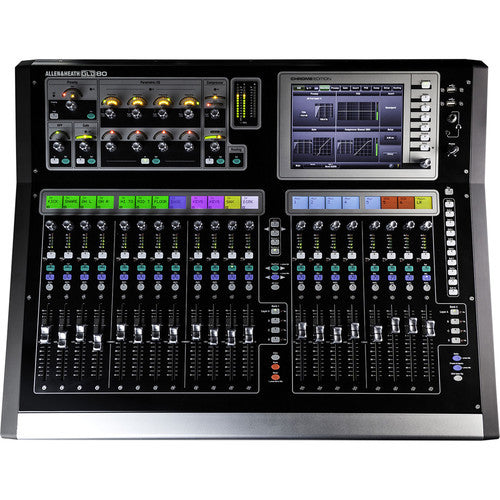 "Allen & Heath GLD280 80 fader 48 channel compact Digital Mixer with Option I/O slot and 7"" touc"