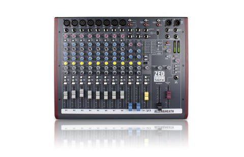 Allen & Heath ZED6014FX 8 Mono Mic/Line, 3 Stereo, USB with FX, 60mm Faders